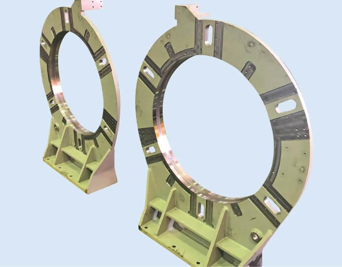 タイヤ製造ライン部品(機械加工済)