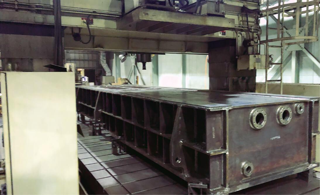 船舶向け機械フレーム(主要部品の溶接から切削加工まで一貫製造)